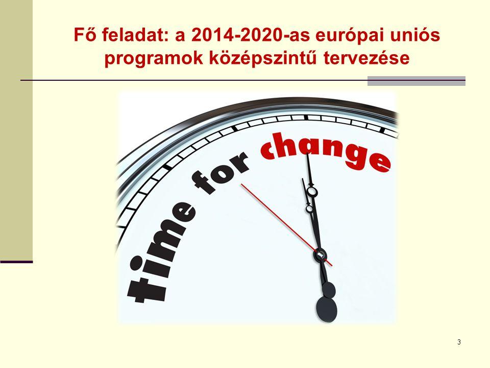 Fő feladat: a 2014-2020-as európai uniós programok középszintű tervezése 3