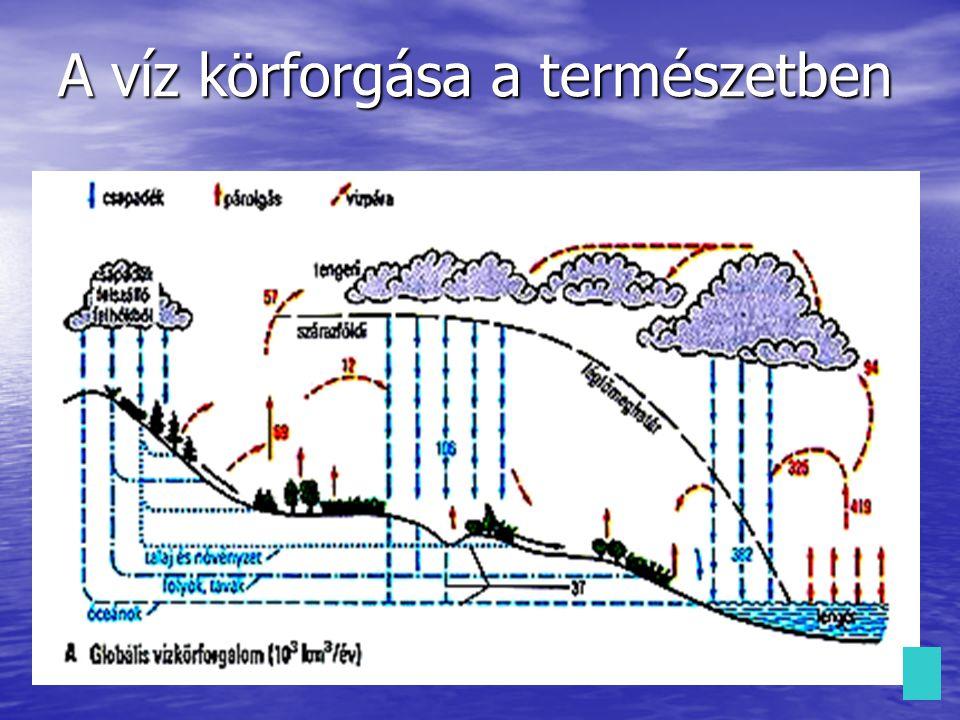 A víz felosztása: Eredete alapján: Eredete alapján: Felhasználása alapján: Felhasználása alapján: Csapadékvíz Csapadékvíz Csapadékvíz Felszíni víz Felszíni víz Felszíni víz Felszíni víz Felszín alatti víz Felszín alatti víz Felszín alatti víz Felszín alatti víz Ivóvíz Ivóvíz Ivóvíz Háztartási és ipari víz Háztartási és ipari víz Háztartási és ipari víz Háztartási és ipari víz Szennyvíz Szennyvíz Szennyvíz Desztillált víz Desztillált víz Desztillált víz Desztillált víz