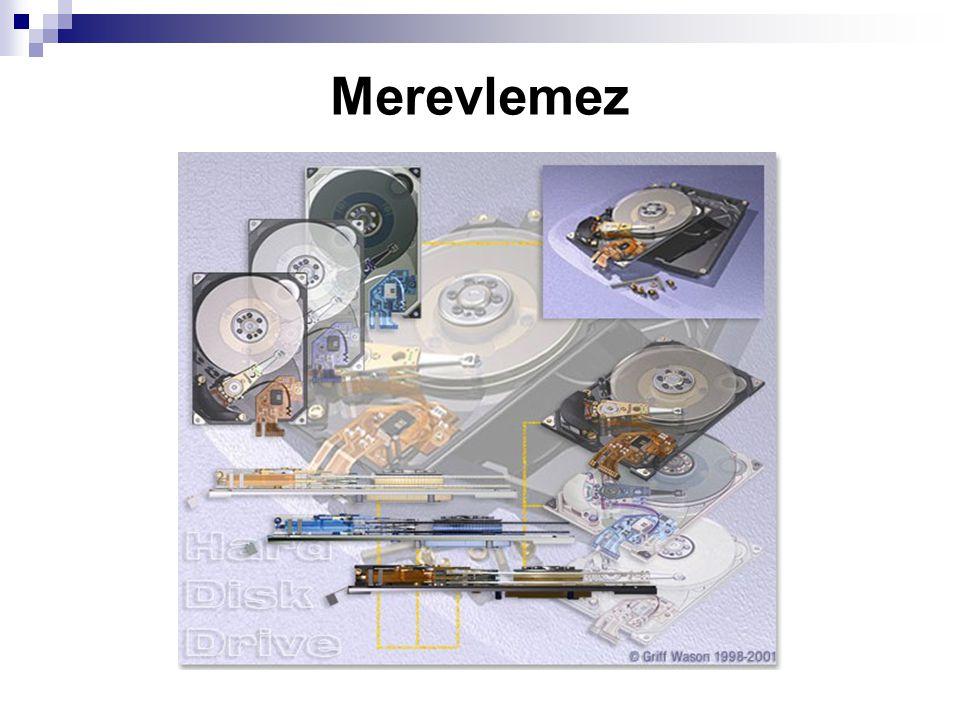 Több elnevezés A merevlemez a számítógép legfontosabb háttértára.