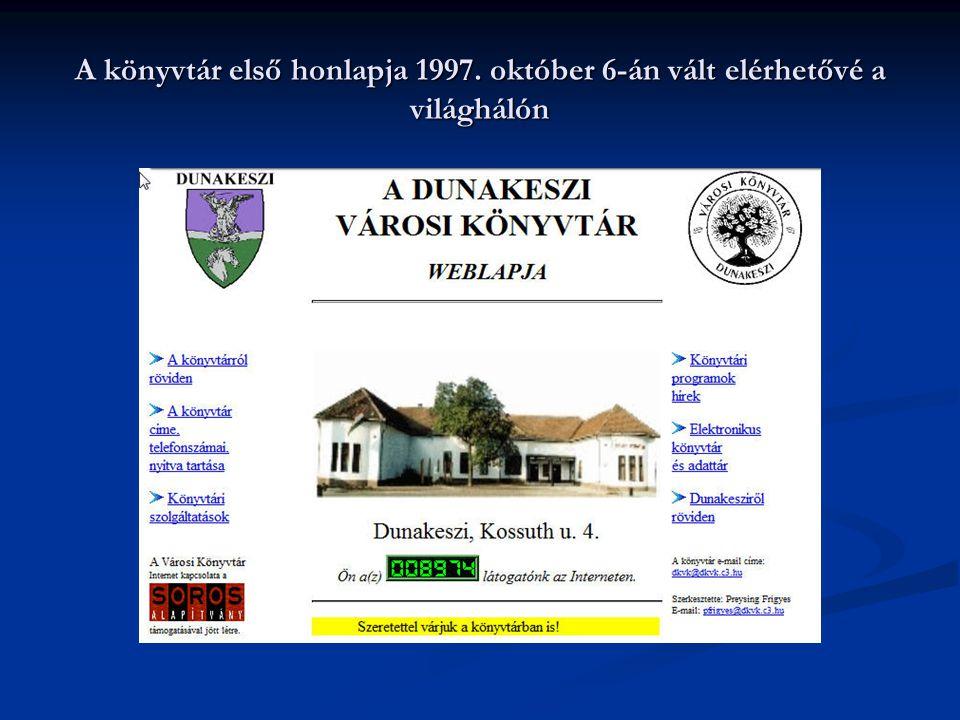 A könyvtár első honlapja 1997. október 6-án vált elérhetővé a világhálón