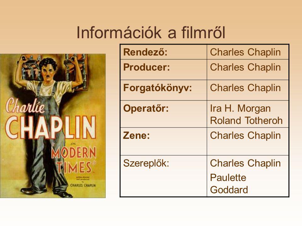 Információk a filmről Rendező:Charles Chaplin Producer:Charles Chaplin Forgatókönyv:Charles Chaplin Operatőr:Ira H.