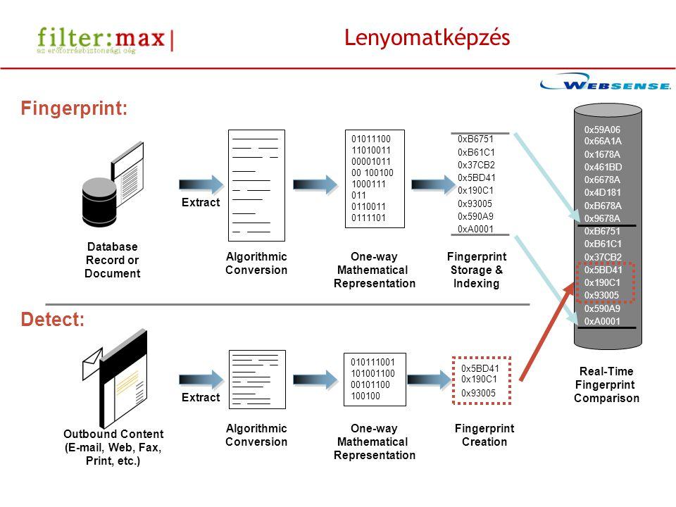 A teljeskörű védelem Desktop Laptop Database File Server Email HTTP FTP IM Print Custom Channels Block Encrypt Quarantine Notify Remediate