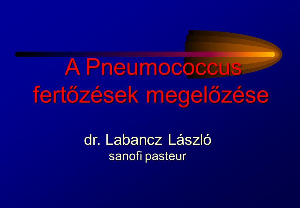 PNEUMOCOCCUS: PATOGENESIS Salyers, Whitt, in Patogeneza Bacterian ă, 1994 Bacteriaemia Sinuzitis Liquor csorgás Meningitis Középfül- gyulladás Orr-garat hordozás Pneumonia Peritonitis Artritis Az orr-garat hordozás az első lépés.(20-60% az embereknek) A szekunder fertőzés ritka.