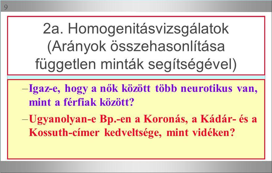  –Igaz-e, hogy a nők között több neurotikus van, mint a férfiak között? –Ugyanolyan-e Bp.-en a Koronás, a Kádár- és a Kossuth-címer kedveltsége, mint