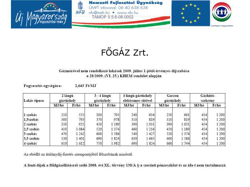 TÁMOP 5.5.6-08-0002 FŐGÁZ Zrt.