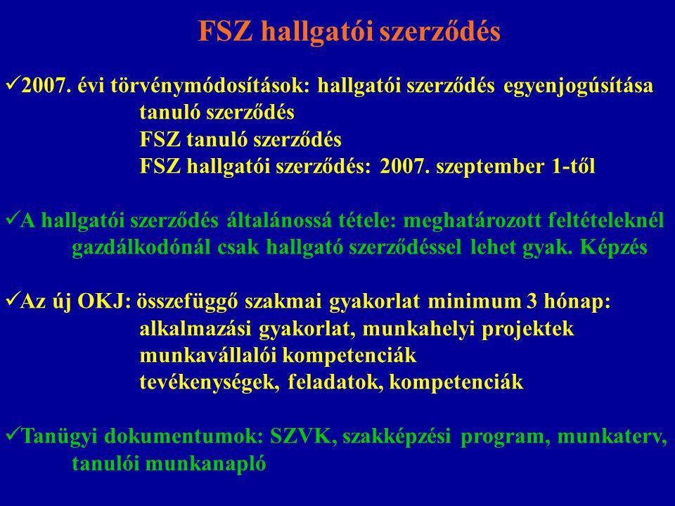 FSZ hallgatói szerződés 2007.