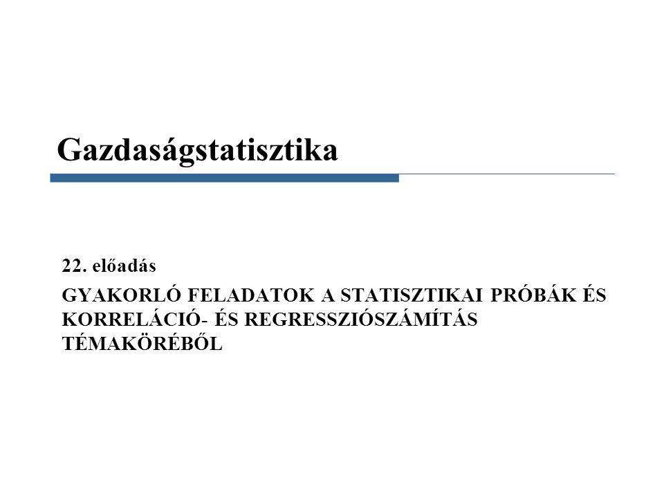 Gazdaságstatisztika 22.