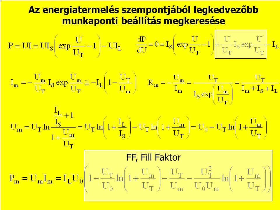 A fény detektálás szempontjából legkedvezőbb munkaponti beállítások, a fototranzisztor Szakadás, a karakterisztika logaritmikus lesz: Rövidzár, a kara