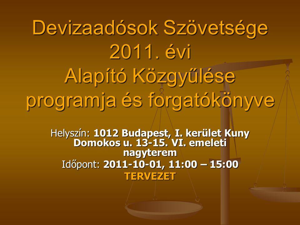Devizaadósok Szövetsége 2011.
