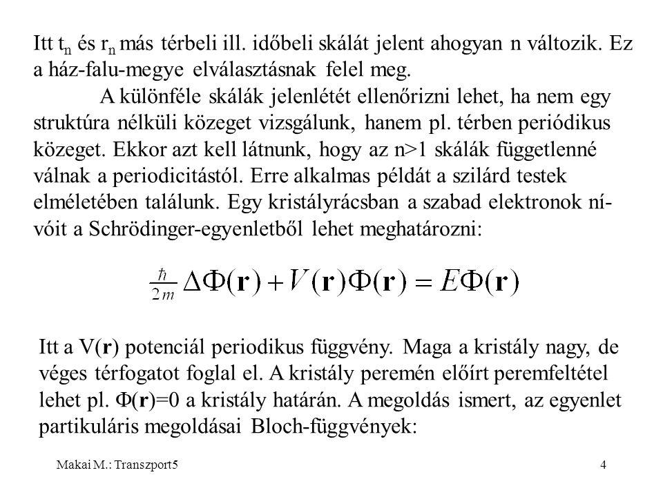 Makai M.: Transzport54 Itt t n és r n más térbeli ill.