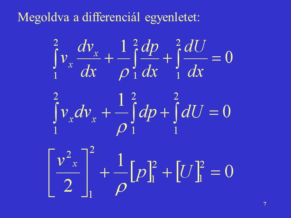 18 Alkalmazások z1z1 z2z2 h p1p1 p 1 >p 0 1 2 v1v1 v2v2 A2A2 A1A1 p 2 =p 0 z 0