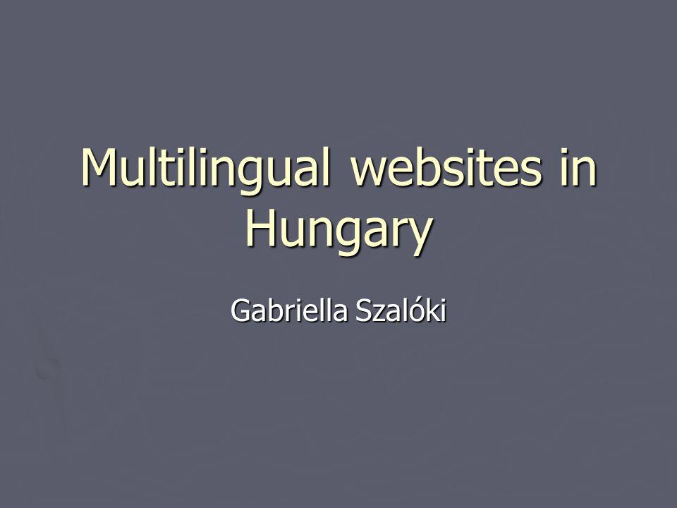 Multilingual websites in Hungary Gabriella Szalóki Egy előadás könnyen vitára ösztönözheti a hallgatóságot.