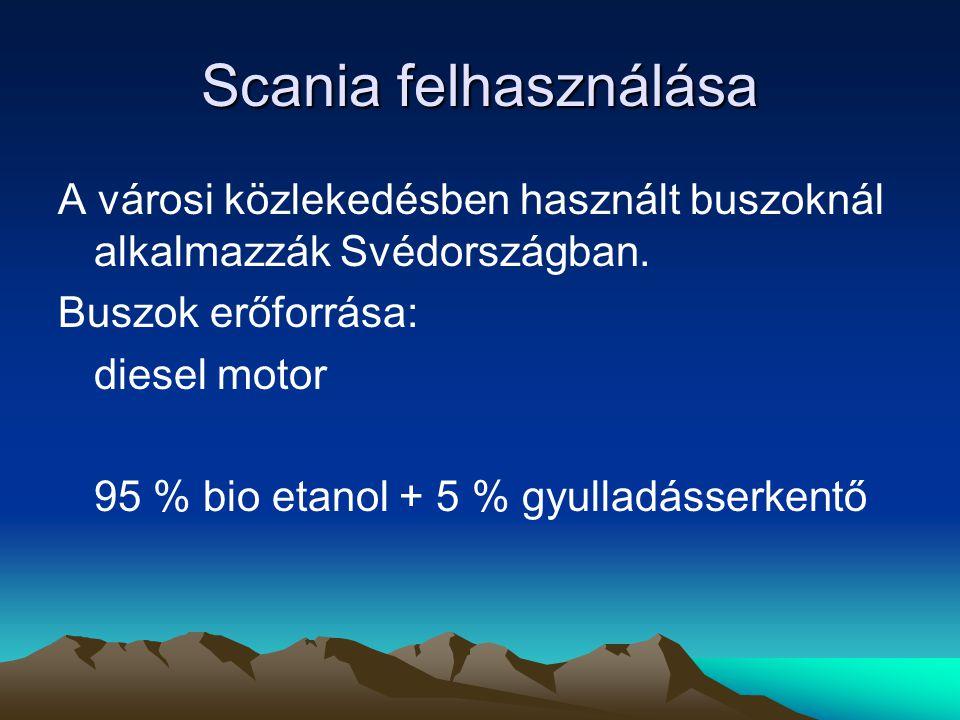 Scania felhasználása A városi közlekedésben használt buszoknál alkalmazzák Svédországban.