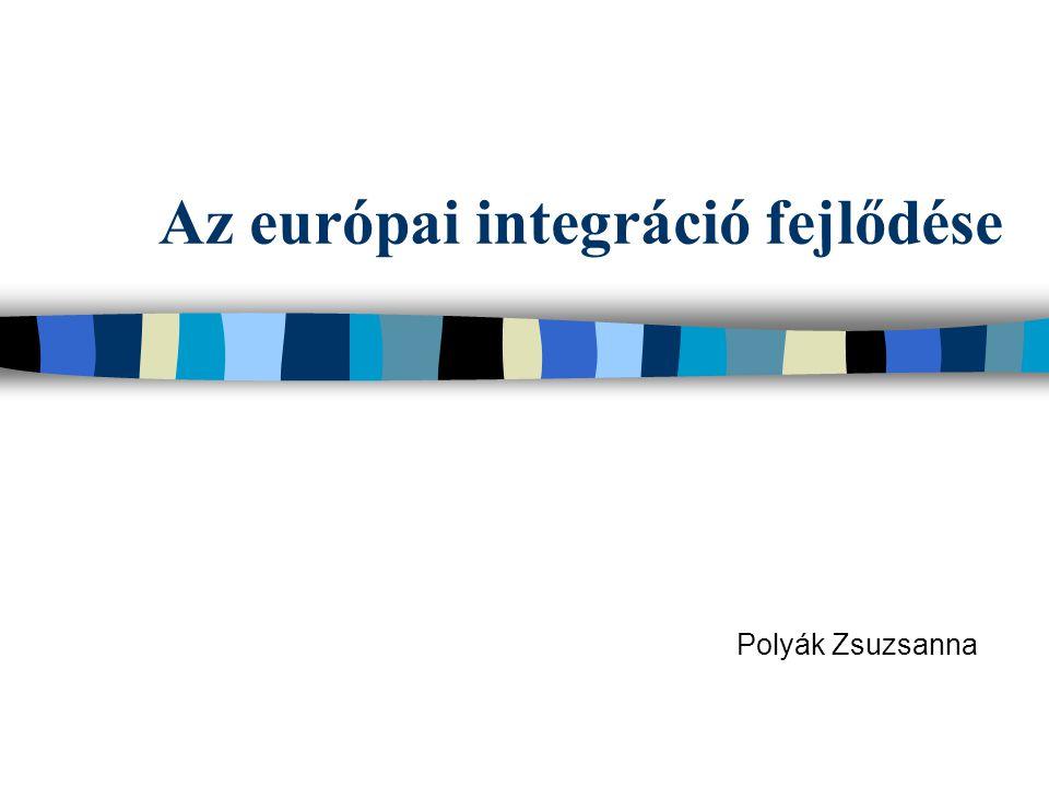 Az európai integráció fejlődése Polyák Zsuzsanna