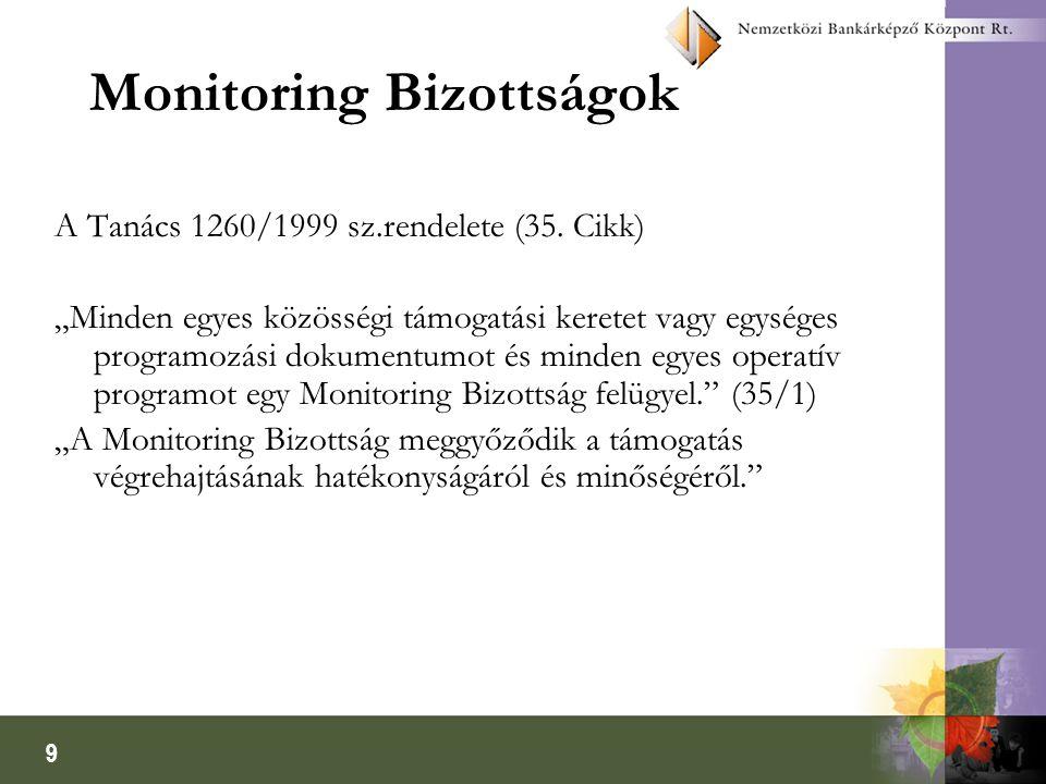 9 Monitoring Bizottságok A Tanács 1260/1999 sz.rendelete (35.