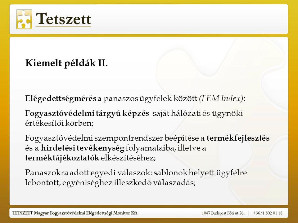 Kiemelt példák II.
