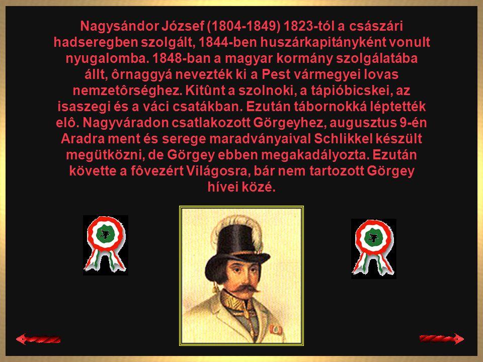 Leiningen-Westerburg Károly (1819-1849) A magyar szabadságharc német származású honvédtábornoka elôbb császári tiszt volt, majd az 1848-as harcok idej