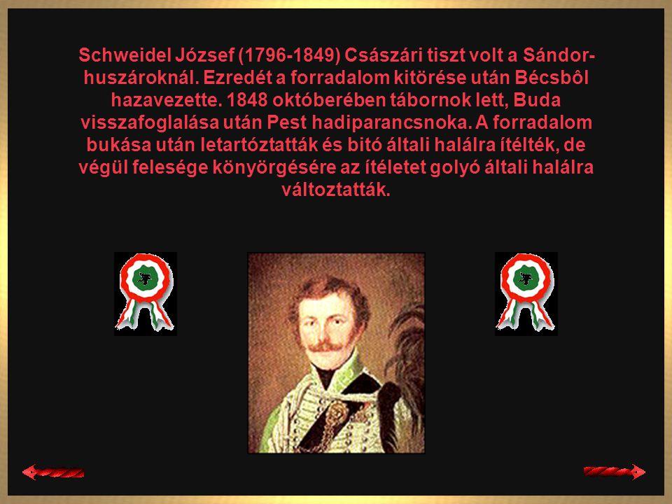 Pöltenberg Ernô (1813-1849) Császári tiszt, majd kapitány volt a Sándor-huszároknál. 1848 nyarán ezredével együtt Magyarországra helyezték, ahol a mag
