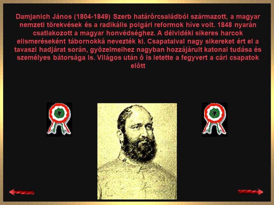 Aulich Lajos (1792-1849) Császári tiszt volt, a Sándor gyalogezred alezredese, 1848-ban honvédezredes, 1849- tôl tábornok. Görgey híve volt, 1849. Júl