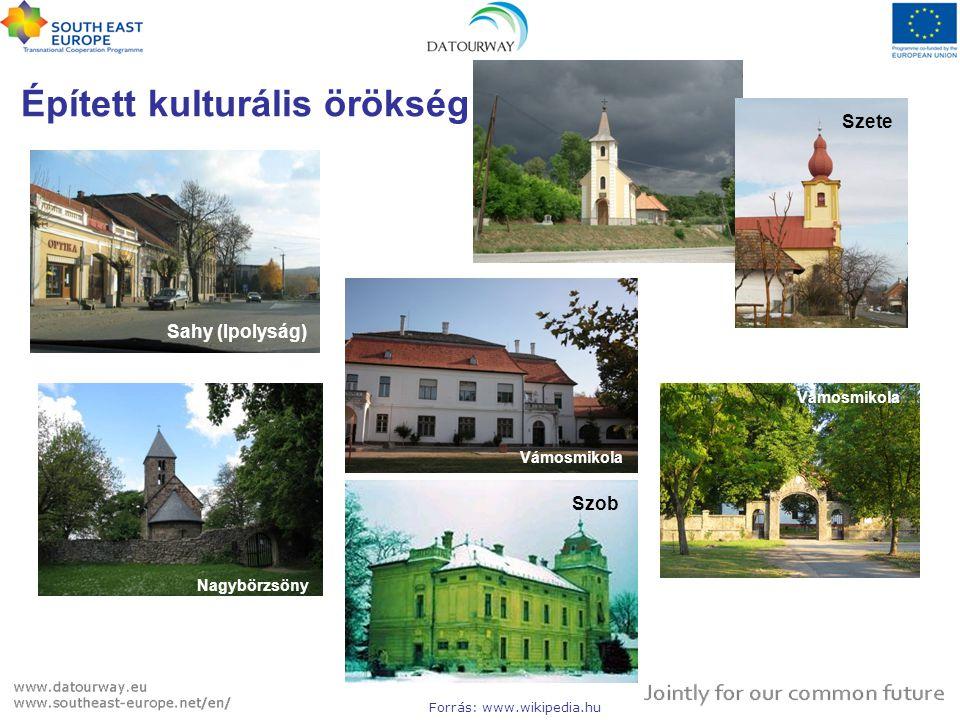 Nagybörzsöny Épített kulturális örökség Sahy (Ipolyság) Szob Szete Vámosmikola Forrás: www.wikipedia.hu