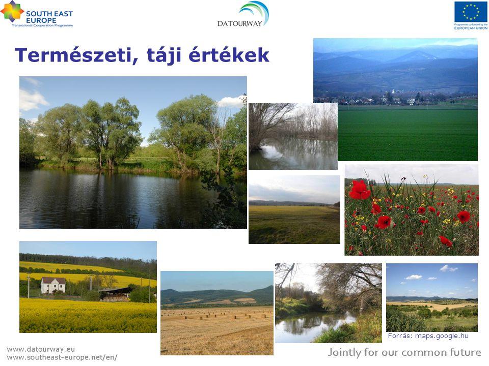 Természeti, táji értékek Forrás: maps.google.hu