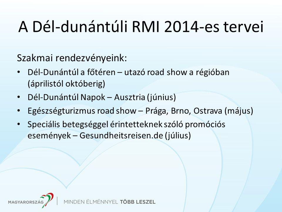 Szakmai rendezvényeink: Dél-Dunántúl a főtéren – utazó road show a régióban (áprilistól októberig) Dél-Dunántúl Napok – Ausztria (június) Egészségturi
