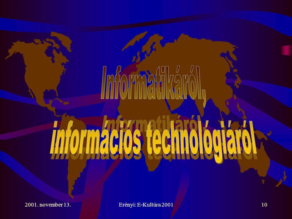 2001. november 13.Erényi: E-Kultúra 200110