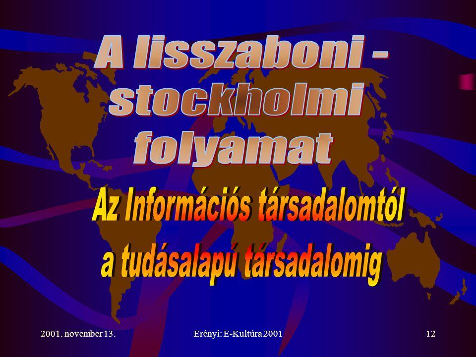 2001. november 13.Erényi: E-Kultúra 200112