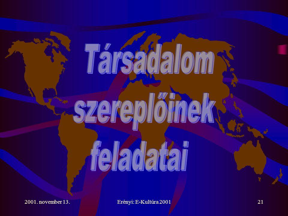 2001. november 13.Erényi: E-Kultúra 200121