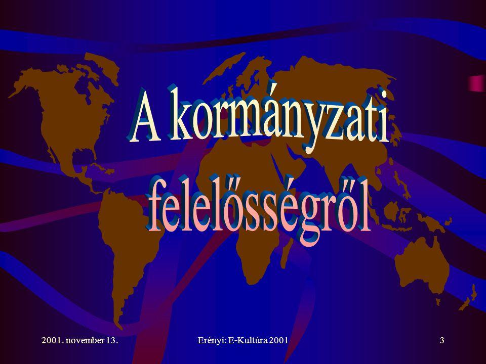 2001. november 13.Erényi: E-Kultúra 200124