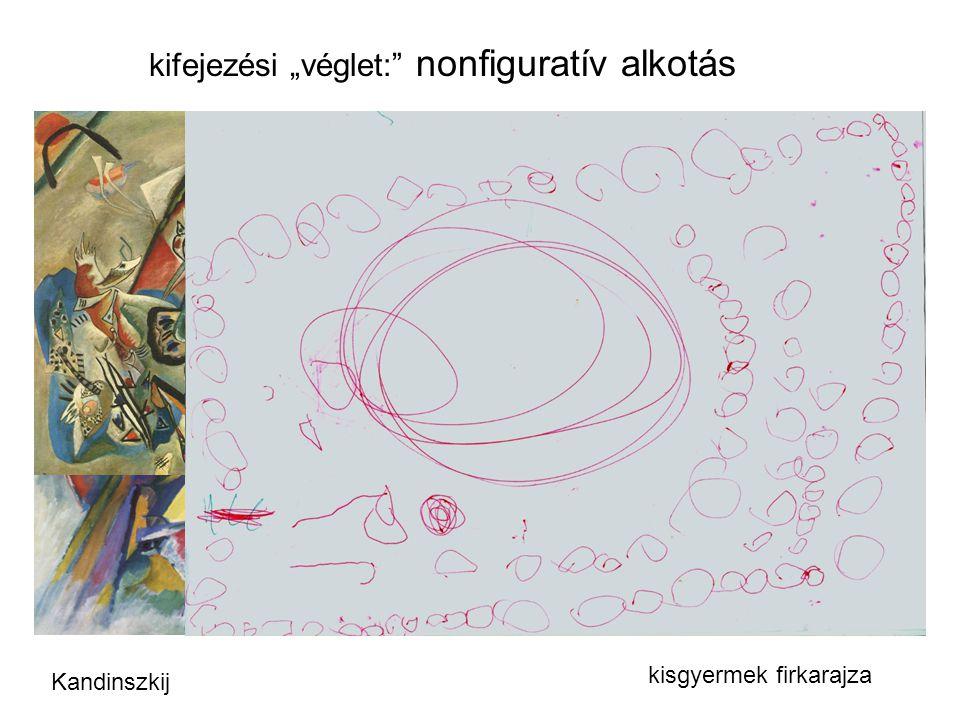 """kifejezési """"véglet:"""" nonfiguratív alkotás Kandinszkij kisgyermek firkarajza"""
