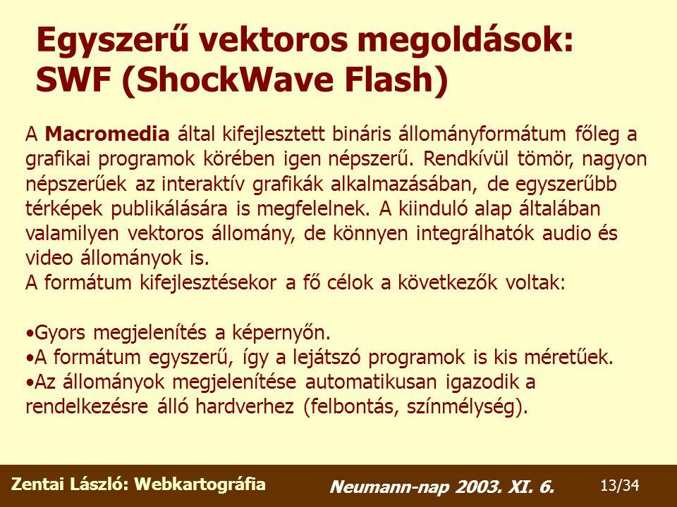 Zentai László: Webkartográfia 13/34 Neumann-nap 2003.