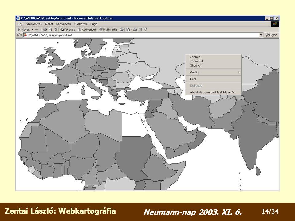 Zentai László: Webkartográfia 14/34 Neumann-nap 2003. XI. 6.