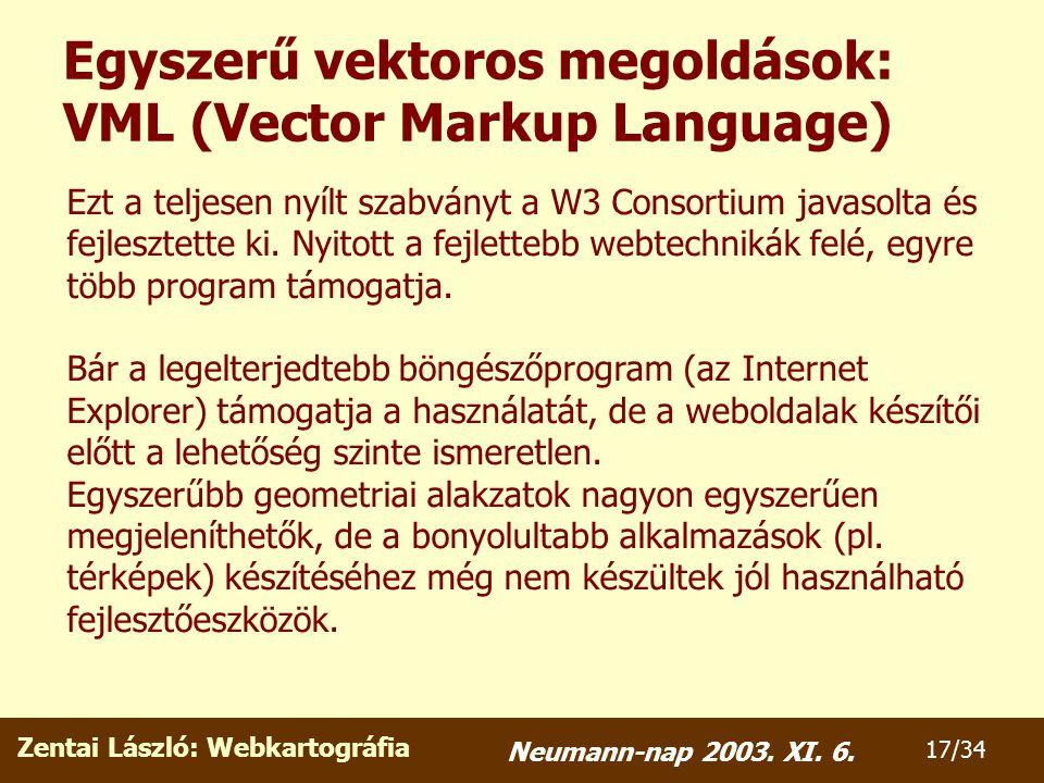 Zentai László: Webkartográfia 17/34 Neumann-nap 2003.