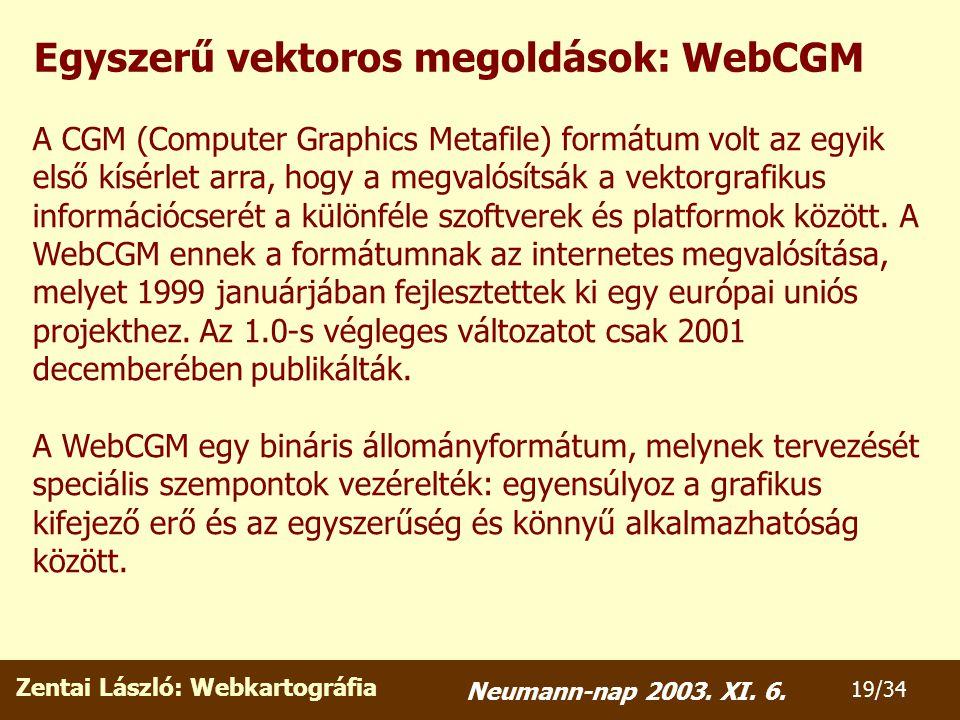 Zentai László: Webkartográfia 19/34 Neumann-nap 2003.