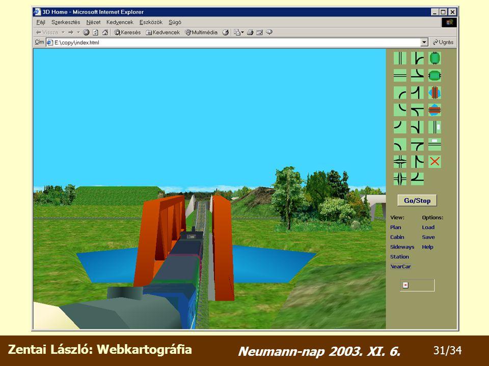Zentai László: Webkartográfia 31/34 Neumann-nap 2003. XI. 6.