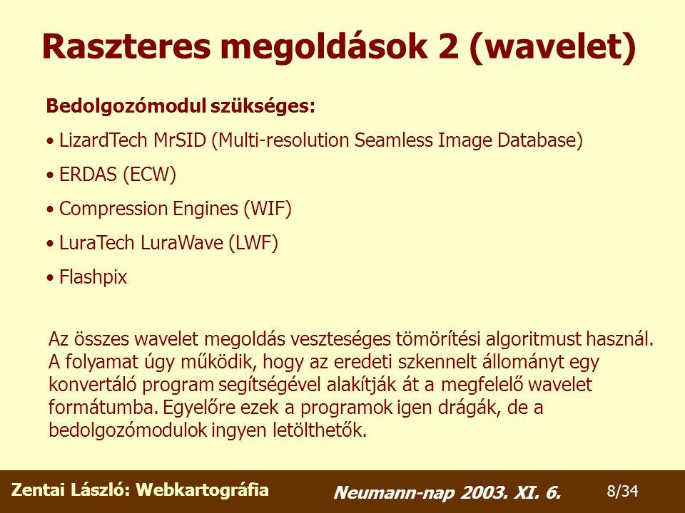 Zentai László: Webkartográfia 9/34 Neumann-nap 2003.