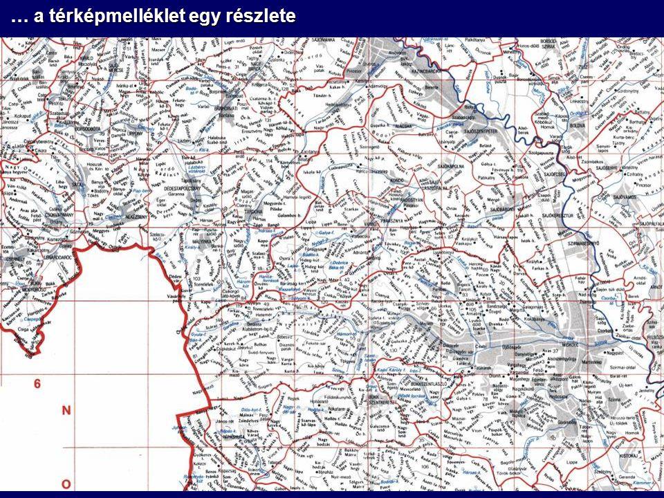 … a térképmelléklet egy részlete