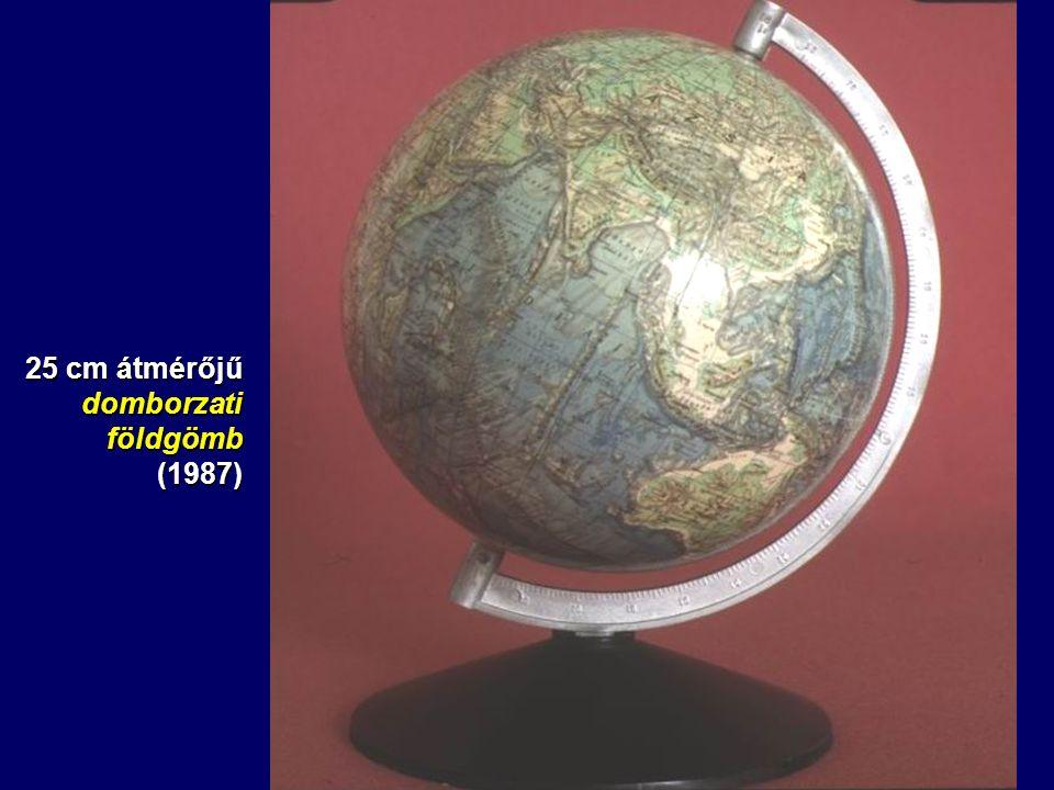 25 cm átmérőjű domborzati földgömb (1987)