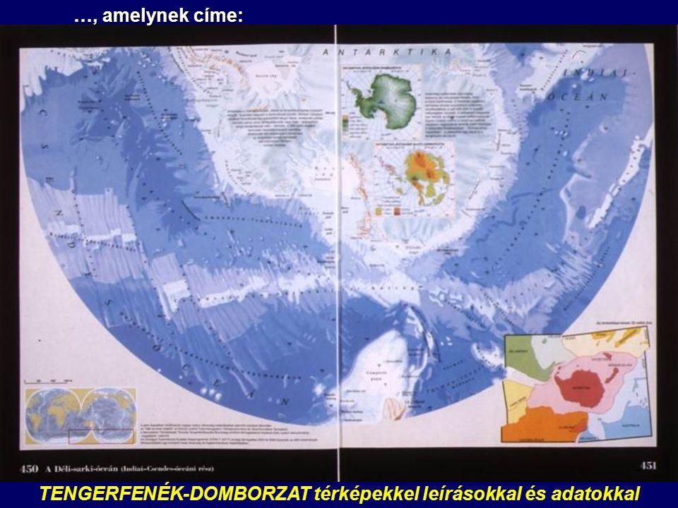 TENGERFENÉK-DOMBORZAT térképekkel leírásokkal és adatokkal …, amelynek címe: