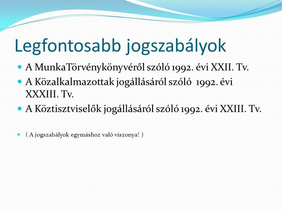 A munkaviszony alanyai- munkavállaló és munkáltató 1./ Munkavállaló - 16.