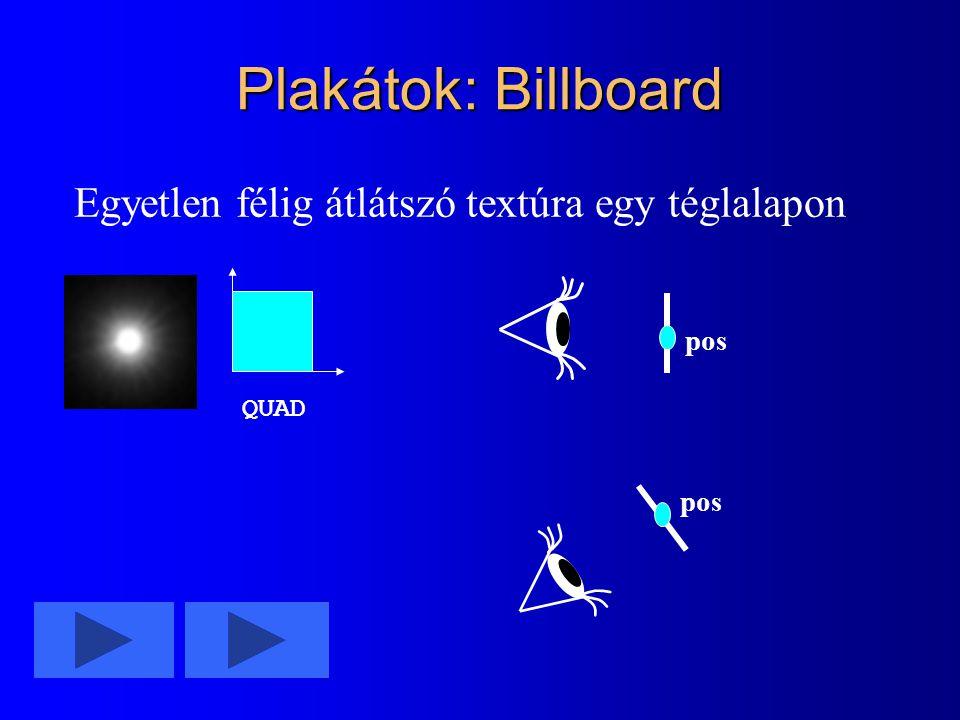 Plakátok: Billboard Egyetlen félig átlátszó textúra egy téglalapon pos QUAD