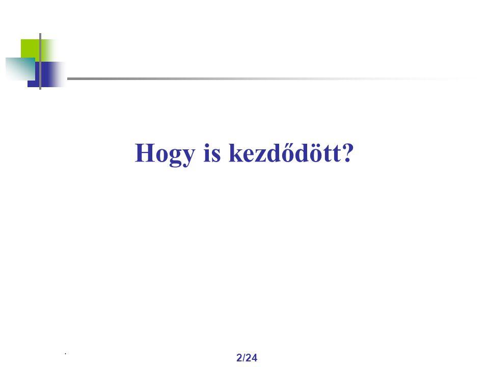 . 13/24 VÁLASZ-E az IBR a kérdésekre?