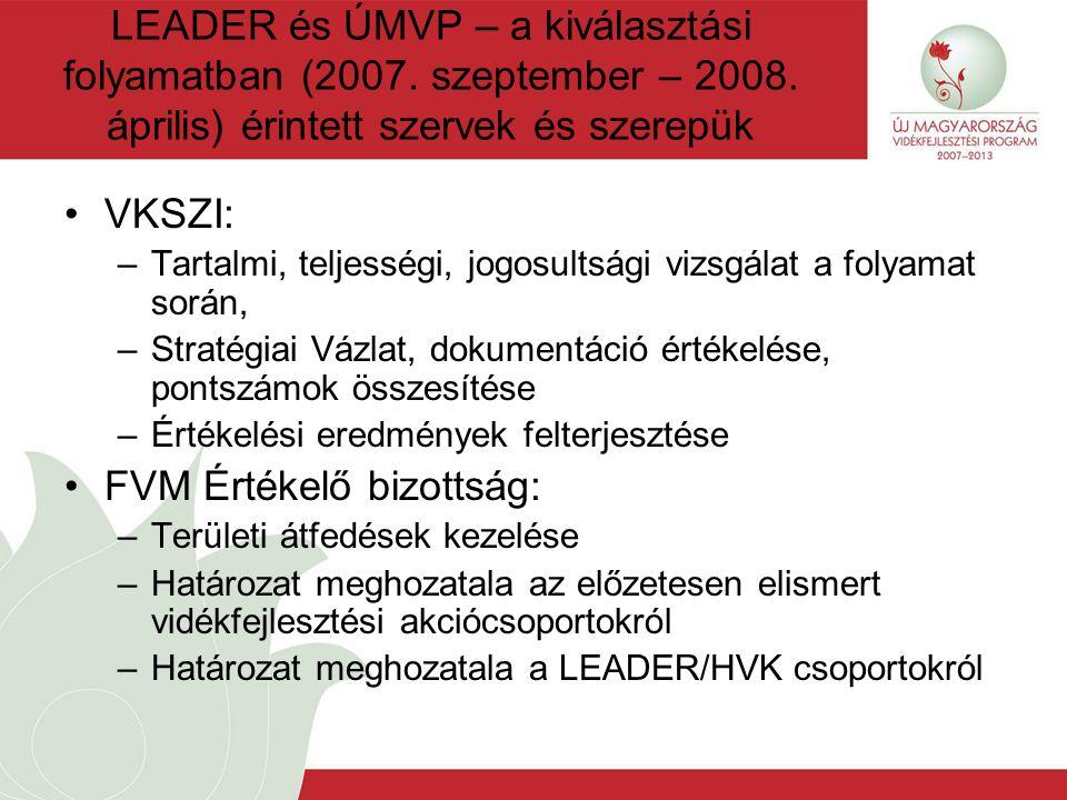 LEADER és ÚMVP – a kiválasztási folyamatban (2007.