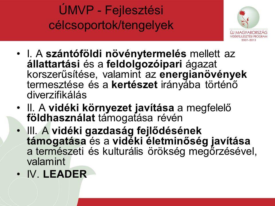 ÚMVP - Fejlesztési célcsoportok/tengelyek I.
