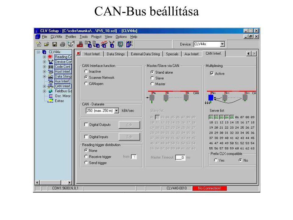 CAN-Bus beállítása