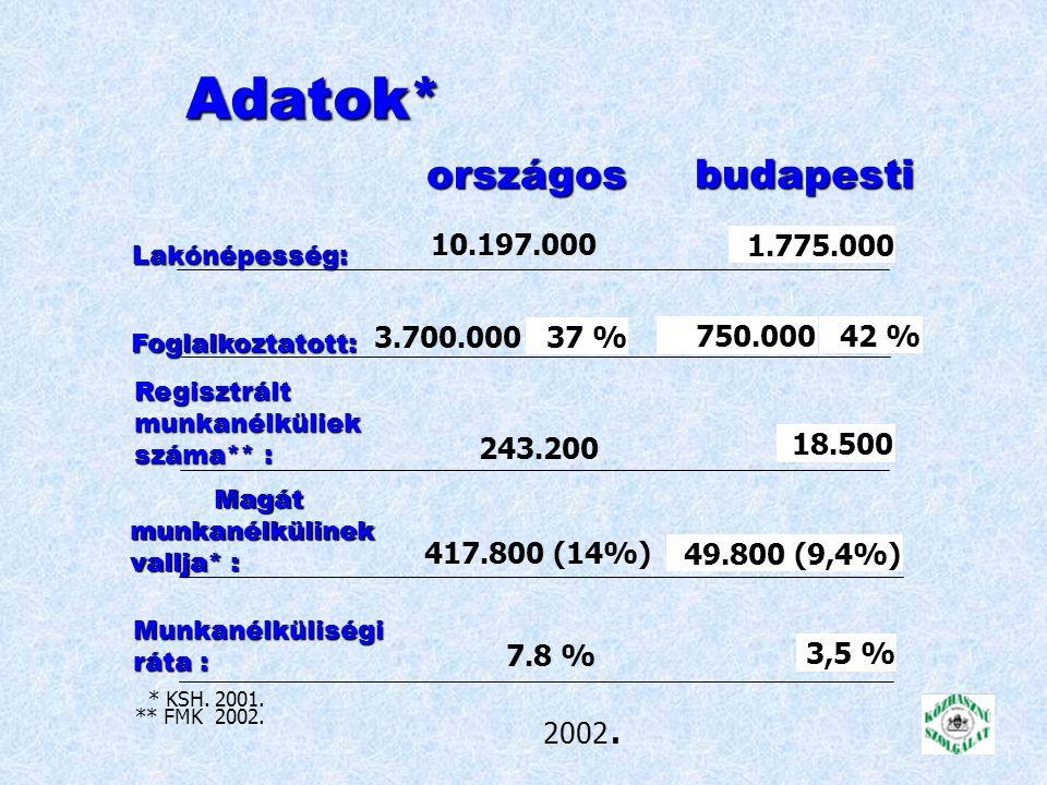 Közfoglalkoztatás Budapesten 2002.