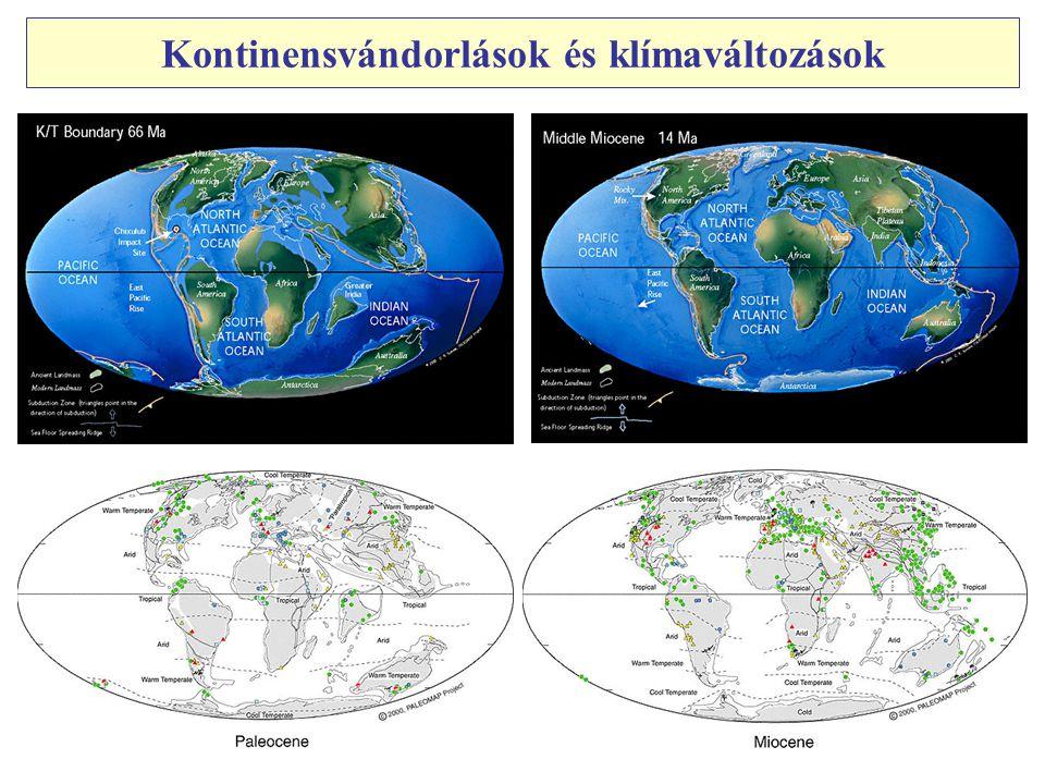 Kontinensvándorlások és klímaváltozások