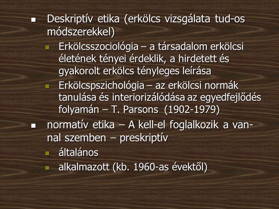 metaetika – analitikus etika - az etika ismeretelmélete, alapjait, előfeltevéseit vizsgálja, fő kérdései: metaetika – analitikus etika - az etika ismeretelmélete, alapjait, előfeltevéseit vizsgálja, fő kérdései: Mi az erkölcs.