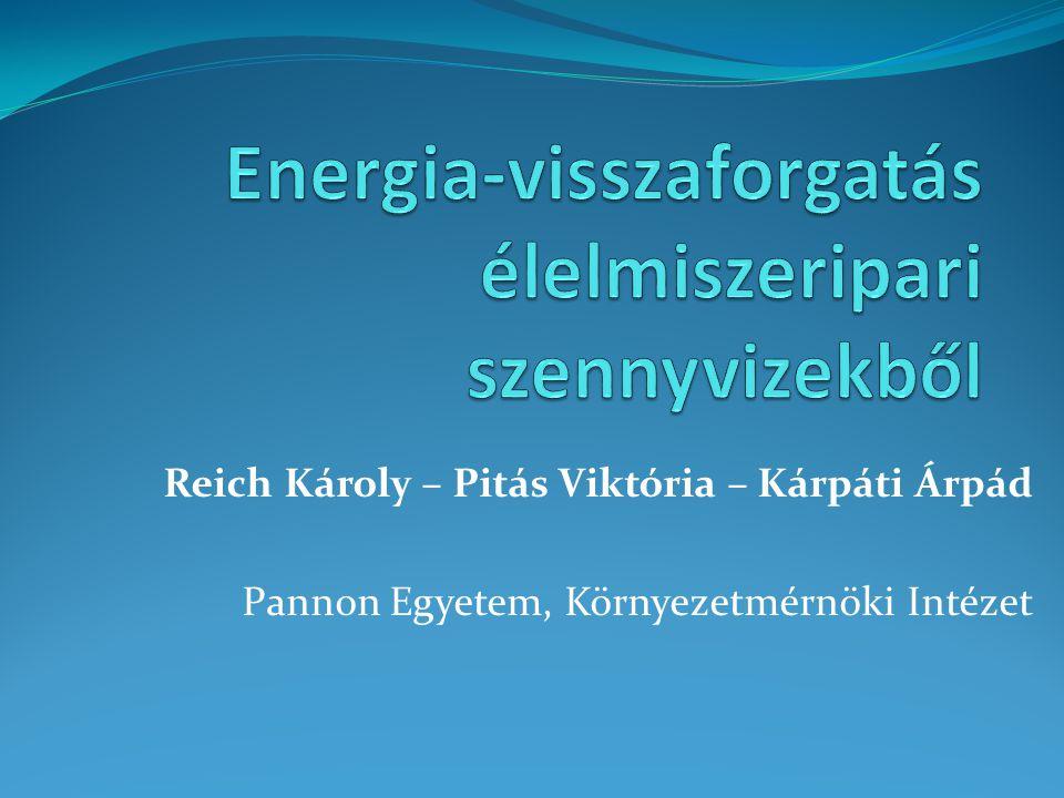 Reich Károly – Pitás Viktória – Kárpáti Árpád Pannon Egyetem, Környezetmérnöki Intézet